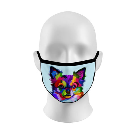 Colorful Papillon Face Cover