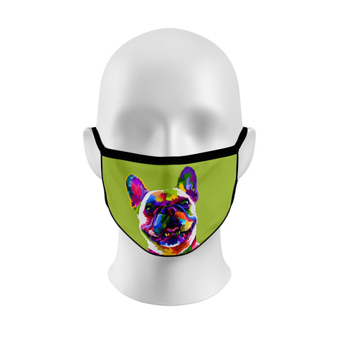 Colorful French Bulldog Face Cover