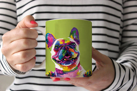 Colorful French Bulldog Mug