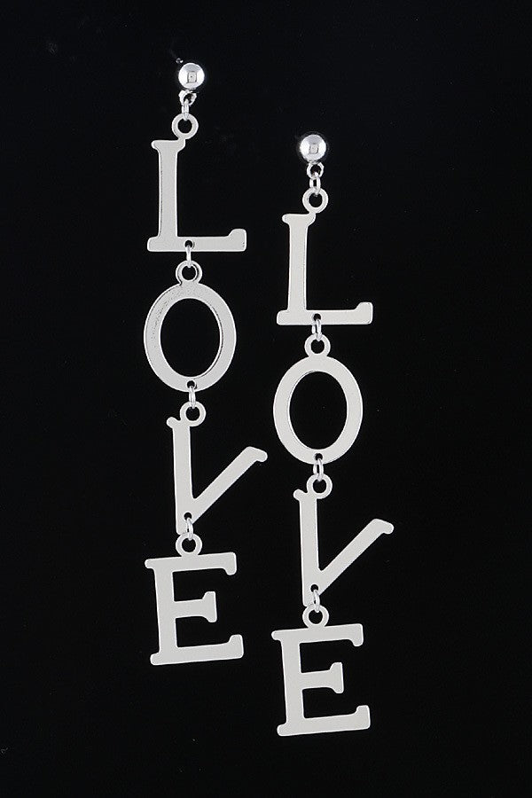 Love Linked Statement Earrings