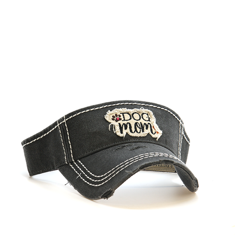 Gray Dog Mom Visor
