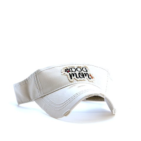 Khaki Dog Mom Visor