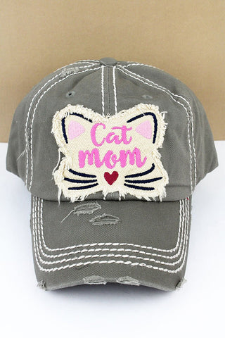 Cat Mom Cap - Gray