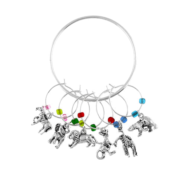Zoo Animals Wine Charms
