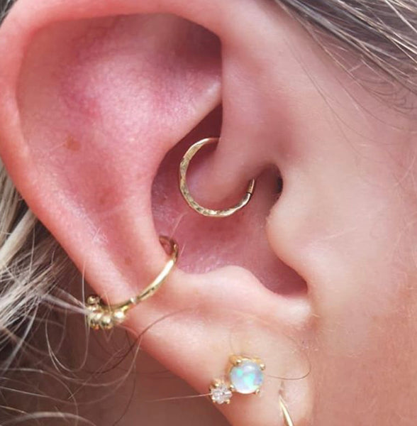 Daith and conch piercing