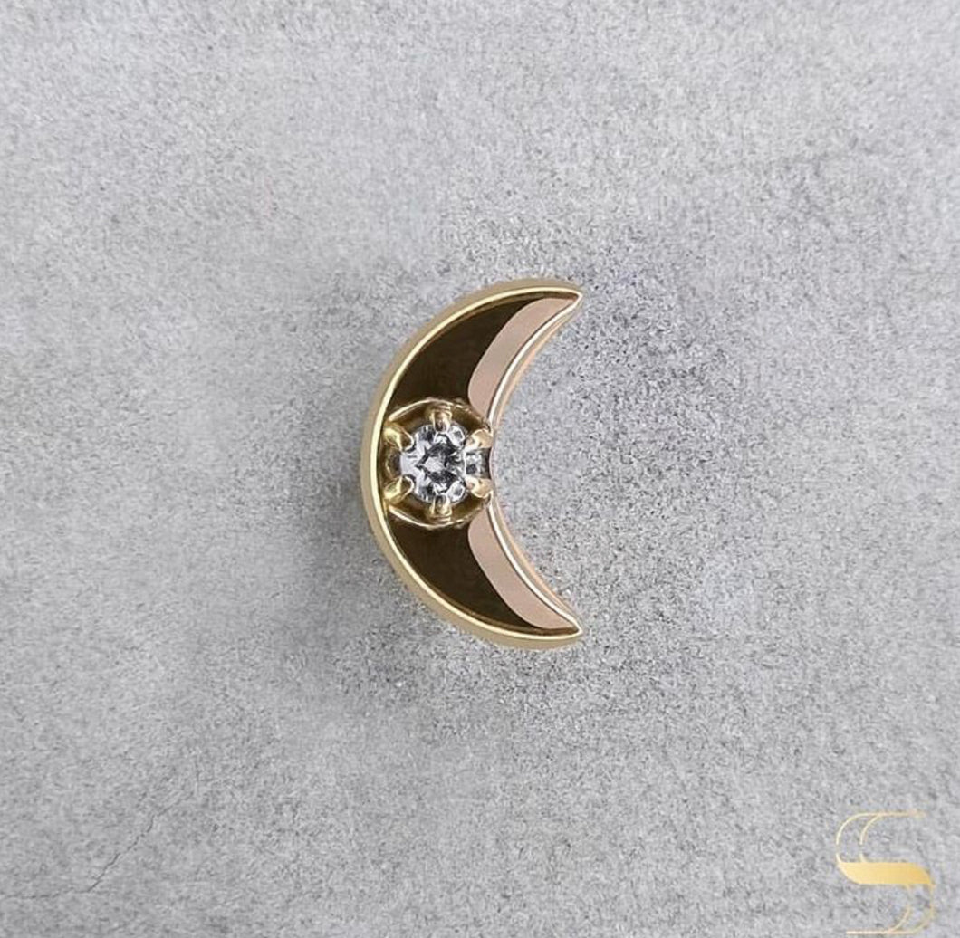 Gold crescent moon