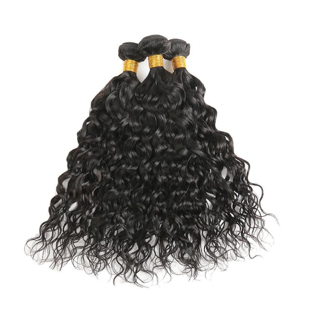 IM Beauty 9A Water Wave 100% Human Hair 3 bundles Weaves - IM Beauty