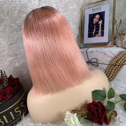 IM Beauty Indian Bob Lace Front Wig Pink - IM Beauty