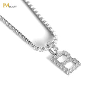 Rhinestones Initial Necklace - B - IM Beauty