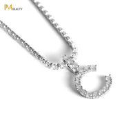 Rhinestones Initial Necklace - C - IM Beauty