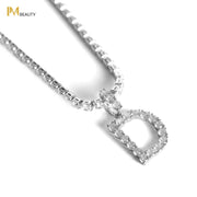 Rhinestones Initial Necklace - D - IM Beauty