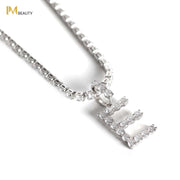 Rhinestones Initial Necklace - E - IM Beauty