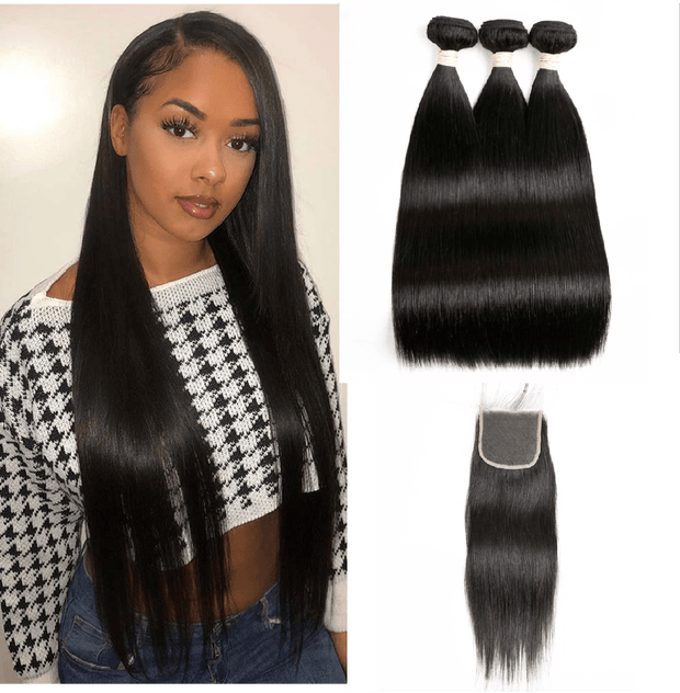 8A Straight 3 Bundles with Closure - IM Beauty