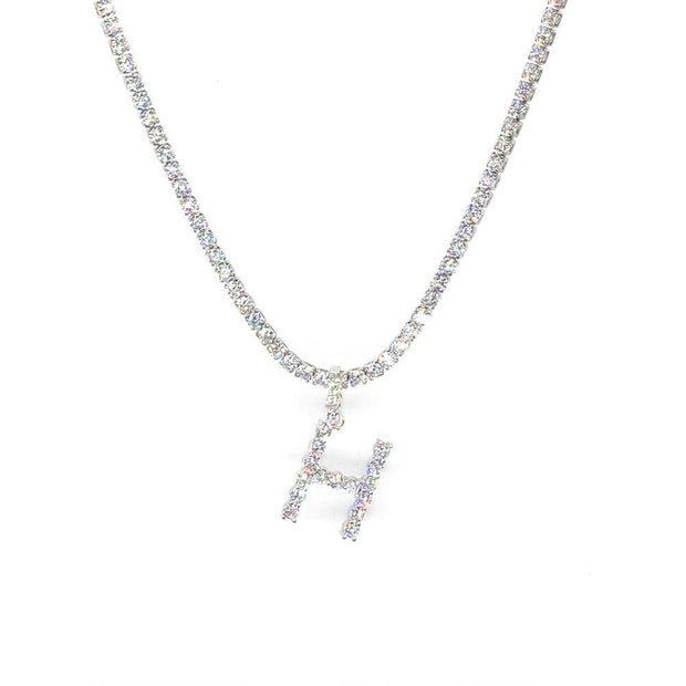 Rhinestones Initial Necklace - A-Z - IM Beauty