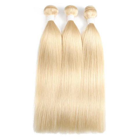 100% Human Hair Weaves #613 Straight 14-24 Inch - IM Beauty