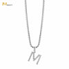 Rhinestones Initial Necklace - M - IM Beauty