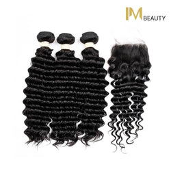 8A Deep Wave 3 Bundles with Free Part Closure - IM Beauty
