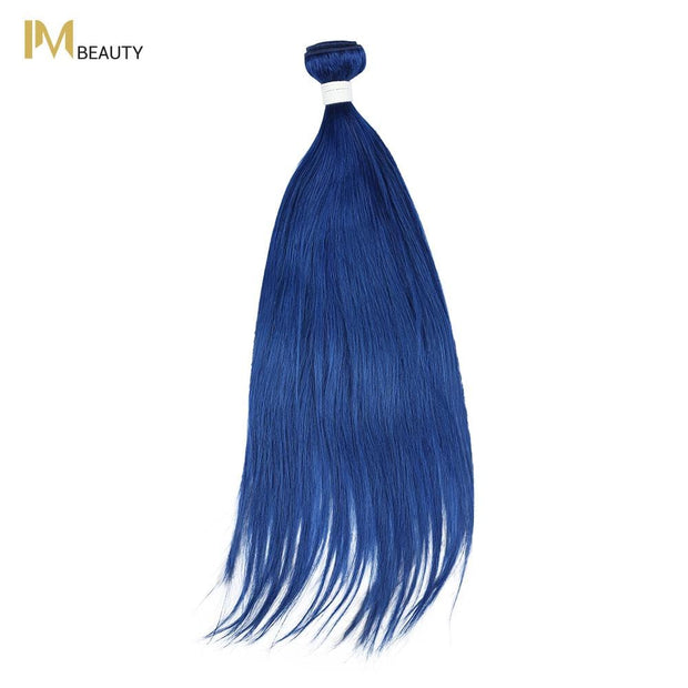IM Beauty 8A Silver Grade 100% Indian Human Hair Bundle Blue - IM Beauty
