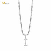 Rhinestones Initial Necklace - I - IM Beauty