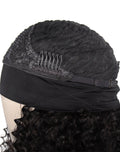 IM Beauty 100% Indian Human Hair Kinky Curly Headband Wig