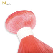 IM Beauty 8A Silver Grade 100% Indian Human Hair Bundle Mint Pink - IM Beauty