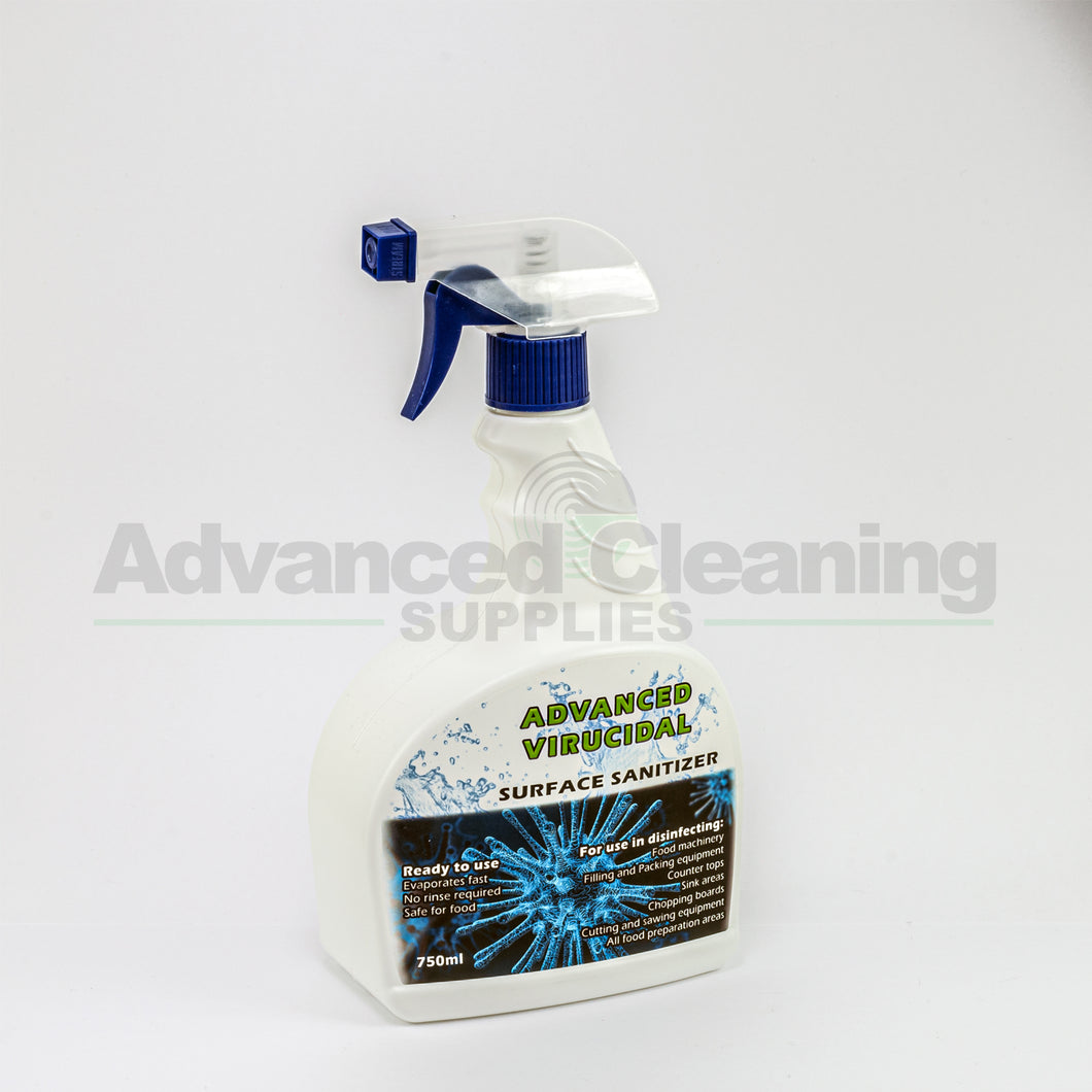 Advanced Virucidal Surface Sanitizer Spray 750ml Advanced Cleaning Supplies