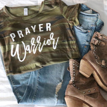 Load image into Gallery viewer, Camo Prayer Warrior T-Shirt