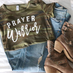 Camo Prayer Warrior T-Shirt