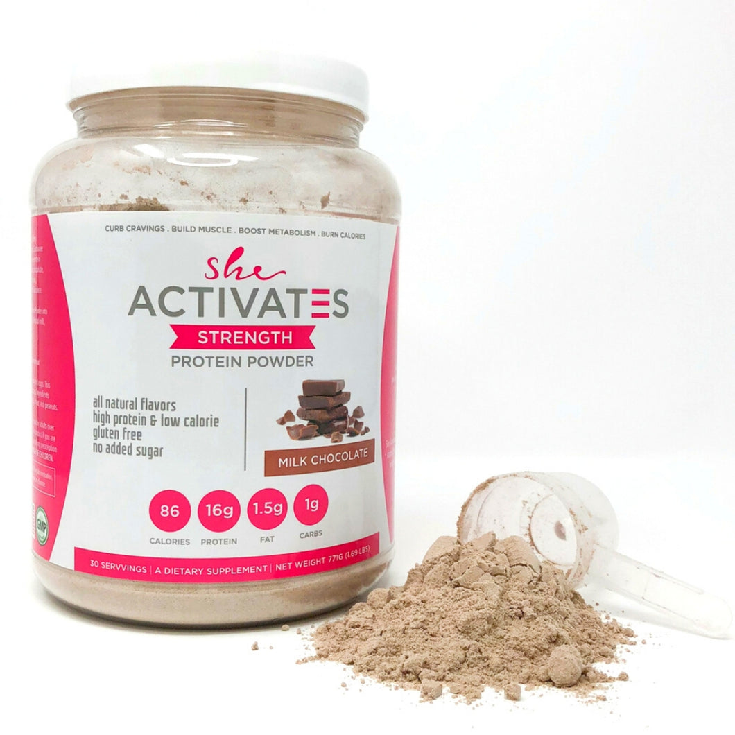 Milk Chocolate She Activates Protein Powder-30 servings