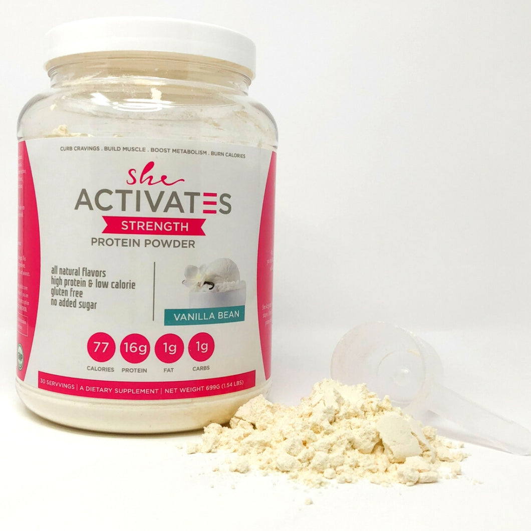 Vanilla Bean She Activates Protein Powder- 30 servings