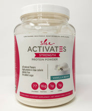Load image into Gallery viewer, Vanilla Bean She Activates Protein Powder- 30 servings