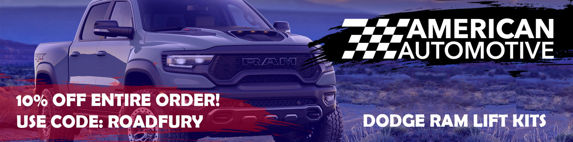 Website banner dodge ram with code