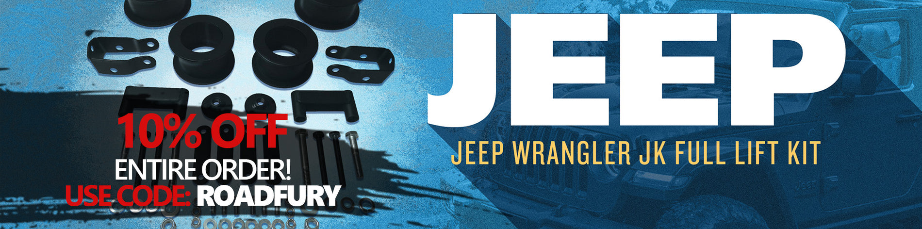 Website banner jeep with code