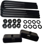 Chevrolet GMC C1500 C2500 C3500 Steel Lift Blocks and Square U-Bolts Kit - American Automotive