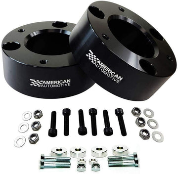Chevrolet Silverado 1500 and GMC Sierra 1500 4WD Pro Billet Front Strut Spacers with Differential Drop Kit