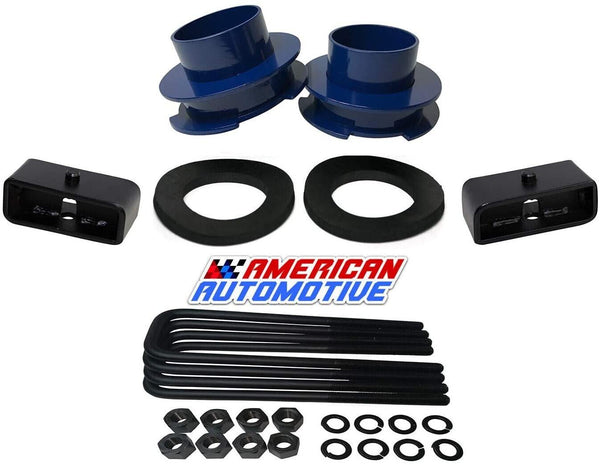 Dodge Ram 1500 2WD Suspension Leveling Lift Kit red spring spacers with isolators
