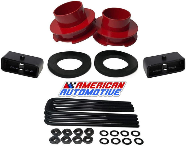 Dodge Ram 1500 2WD Suspension Leveling Lift Kit black spring spacers with isolators