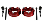2x Front Billet Lift Strut Spacers, differential drop kit Red