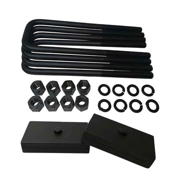 Chevrolet GMC C1500 C2500 C3500 Steel Lift Blocks and Square U-Bolts Kit