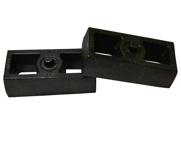 Chevrolet Silverado GM Sierra 1500HD 2500HD 3500HD Rear Cast Iron Tapered Lift Blocks RB1522-217 - 1.5 inch