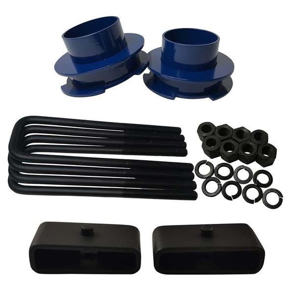 Chevrolet Silverado Sierra 1500 2WD Full Lift Leveling Kit - blue spacers with 1.5 inch lift blocks
