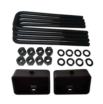 Dodge Ram 2500 3500 2WD Steel Lift Blocks and Square U-Bolts Kit