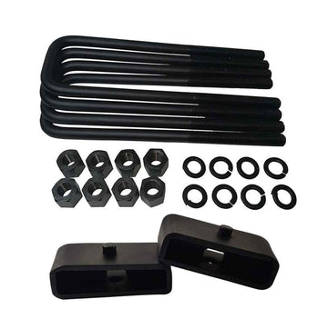 Dodge Ram 2500 3500 4WD Steel Lift Blocks and Square U-Bolts Kit