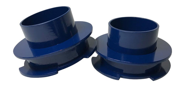 Ford F150 2WD Front Leveling Lift Coil Spring Spacers - blue