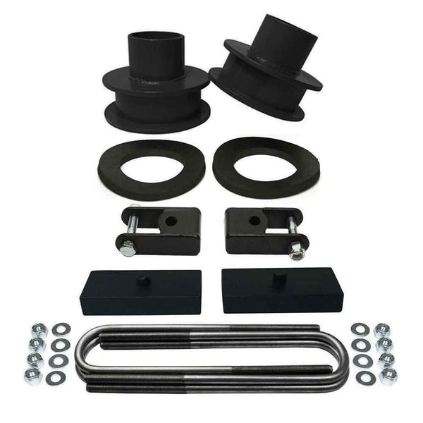 Ford F250 F350 Super Duty 4WD Front and Rear Leveling Lift Kit black - CS720-UBR15-RBFD1002-SX1-1