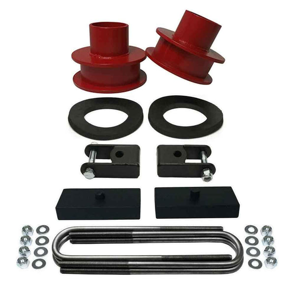 Ford F250 F350 Super Duty 4WD Front and Rear Leveling Lift Kit red - CS720-UBR15-RBFD1002-SX1-RED-1