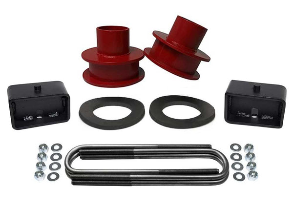 Ford F250 F350 Super Duty 4WD Full Lift Kit red