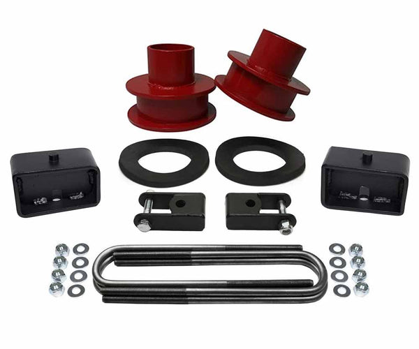 Ford F250 F350 Super Duty 4WD Full Suspension Leveling Lift Kit red