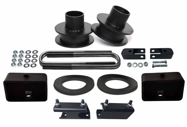 Ford F250 F350 Super Duty 4WD Suspension Leveling Lift Kit black