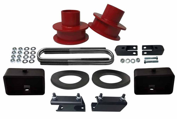 Ford F250 F350 Super Duty 4WD Suspension Leveling Lift Kit red